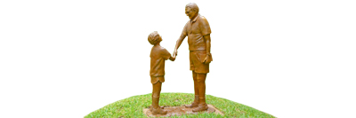 """Smaller Replicas of """"Eye to Eye"""" Bronze Commissioned"""